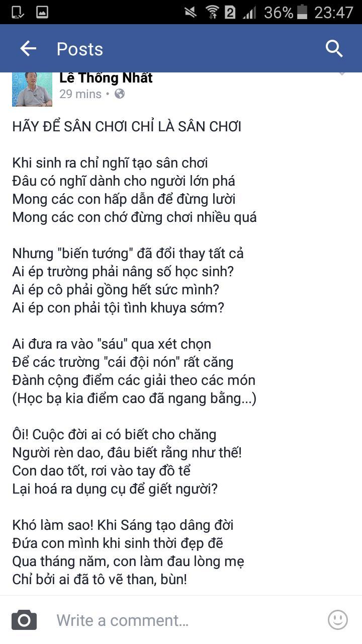 Bai tho that long cua TS Le Thong Nhat ve 'dua con' Violympic - Anh 1