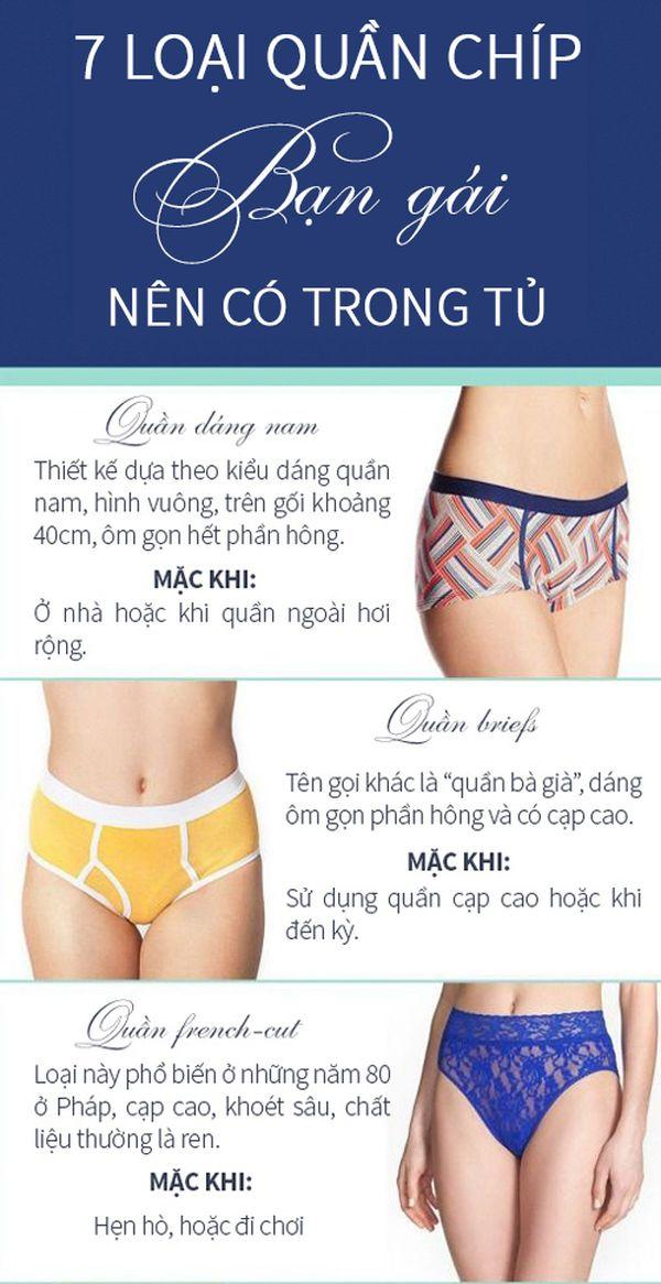 7 loại quần chíp bạn gái nên có trong tủ