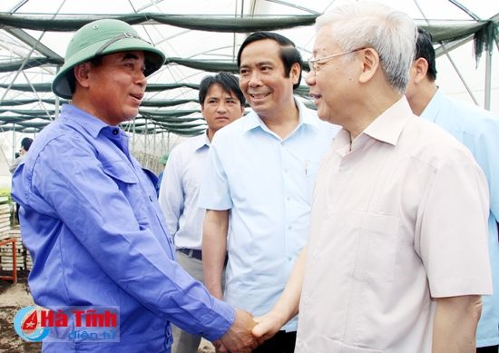 Tong Bi thu Nguyen Phu Trong kiem tra san xuat tai Ha Tinh - Anh 7