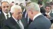 Lãnh đạo Palestine và Israel bắt tay trong lễ tang ông Shimon Peres