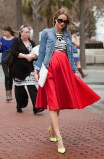 Phong cách sành điệu của những bà bầu trên phố