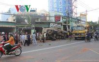 Cụ già bị gạch văng trúng đầu vì đứng gần hiện trường tai nạn