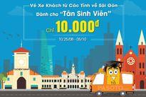 Vé xe 10.000 VNĐ cho tân sinh viên tỉnh nhập học TP.HCM