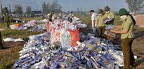 An Giang tiêu hủy hơn 500.000 gói thuốc lá nhập lậu