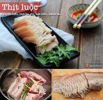 Thực đơn thịt luộc - canh nấm đậm vị cho ngày giao mùa