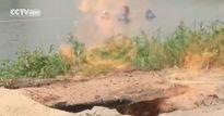 Giếng nước ngọt bỗng nhiên bốc cháy bí ẩn tại Trung Quốc