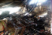 Cháy chợ Vân Thạch, thiệt hại hàng trăm triệu đồng