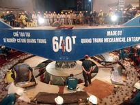 Hạ thành công rotor trên 500 tấn tại thủy điện Huội Quảng
