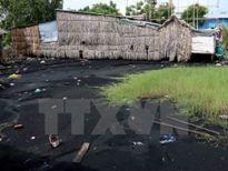 Bãi tập kết than của Công ty Hoành Sơn gây ô nhiễm cảng Vũng Áng