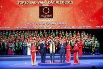 Tôn Hoa Sen, Vingroup lọt TOP 10 Sao Vàng Đất Việt 2015