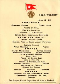 Thực đơn cuối cùng trên tàu Titanic được rao bán với giá gần 2 tỷ đồng