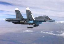 Clip Su-34 của Nga ném bom dẫn đường bằng vệ tinh ở Syria