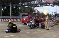 Cảnh sát giao thông bắt tội phạm