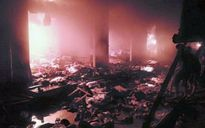 Cháy chợ ở Đắk Nông: Thiêu rụi nhiều gian hàng