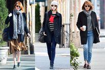 Thời trang mùa Đông đơn giản và trẻ trung của Emma Stone