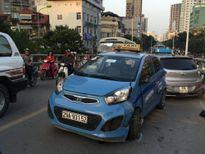Hà Nội: Tai nạn taxi liên hoàn trên cầu vượt Láng Hạ - Lê Văn Lương