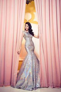 """Lan Khuê diện đầm dạ hội """"ngọc quý"""" cho Chung kết Hoa hậu Thế giới 2015"""