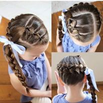 Hướng dẫn làm những kiểu tóc tết cực xinh cho bé đi chơi Noel