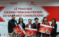 Techcombank trao giải xe Yamaha cho khách hàng