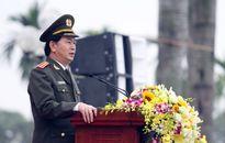 Hình ảnh 5.000 cảnh sát xuất quân bảo vệ Đại hội Đảng