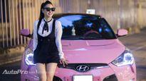 Cận cảnh Hyundai Veloster màu hồng Hello Kitty của bà mẹ 9x Hà thành