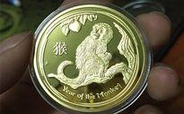 3 triệu đồng/cặp tiền xu hình khỉ lì xì Tết