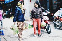 Lo sợ rét đậm kéo dài, người Hà Nội tranh thủ đi mua thực phẩm tích trữ