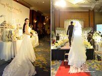 5 cô dâu nổi tiếng làng giải trí Việt lộng lẫy với voan cưới dài