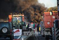 Nông dân Pháp kéo máy cày đi biểu tình