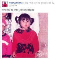 Tiết lộ ảnh thơ ấu 'xinh từ trong trứng' của Phạm Hương