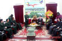 Thượng tướng Võ Trọng Việt chúc tết Tỉnh ủy Nghệ An