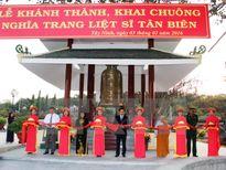 Khánh thành Nhà tháp chuông nghĩa trang liệt sỹ Tân Biên