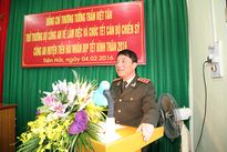 Thứ trưởng Trần Việt Tân kiểm tra công tác đảm bảo ANTT tại Công an huyện Tiền Hải, Thái Bình
