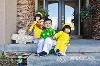 Nhóc tì nhà sao Việt đáng yêu khi mặc áo dài đón Tết