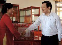 Chủ tịch nước thăm và chúc tết tại tỉnh Vĩnh Long