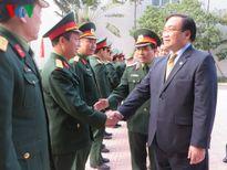 Bí thư Thành ủy Hà Nội chúc Tết cán bộ, chiến sĩ Công an Thành phố và Bộ Tư lệnh Thủ đô