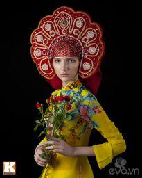 Chuyện tình yêu của cô gái Nga và áo dài Việt