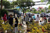 Sài Gòn chiều cuối năm, đào mai lên xe rác