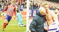 CẢM ĐỘNG: Ghi bàn thứ 100 cho Atletico, Torres tặng áo cho người thầy đầu tiên