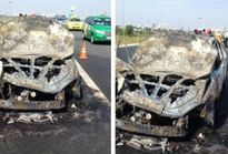 Cháy xe 4 chỗ trên cao tốc TP Hồ Chí Minh-Long Thành-Dầu Giây