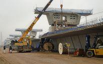 Đầu xuân trên công trường cầu vượt biển dài nhất Việt Nam