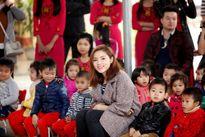 Hoa hậu Kỳ Duyên quyên tiền xây phòng học ở Tuyên Quang