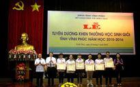 Ngành GD&ĐT tỉnh Vĩnh Phúc tuyên dương, khen thưởng học sinh giỏi