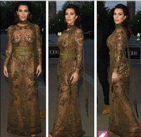 Cô Kim hút chặt ánh nhìn với váy mỏng như tờ