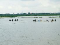 CSGT, bộ đội ngâm mình dưới nước vớt lúa giúp dân gây bão mạng