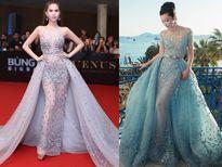 Ngọc Trinh diện đồ nhái, Jennifer Phạm xinh đẹp với váy xuyên thấu lộ nội y