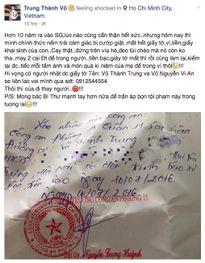 MC Thành Trung bị cướp, mất hết giấy tờ và tiền bạc