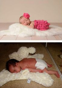 Thực tế khác xa một trời một vực giữa ảnh mẫu và ảnh thật chụp cho bé