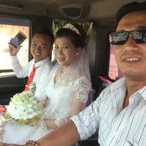 """HOT: đám cưới đón dâu bằng đoàn """"siêu xe cẩu"""""""