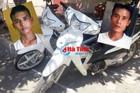 Thiếu tiền 'xài' ma túy, 2 đối tượng gây ra 4 vụ trộm xe máy